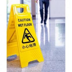 Slippery and damaged Floors
